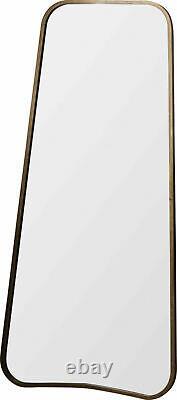 Kurva Leaner Hanging Mirror Large Rustic Gold Metal Full Length 119.5cm x 56cm