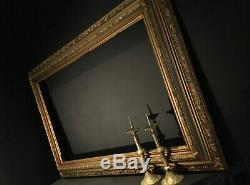 Large 124x84cm Antique Gilt Picture Frame Ornate Deep Set Gallery Wall