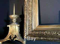 Large 80x60cm Antique Gilt Picture Frame Ornate Deep Set Gallery Wall