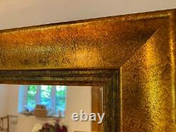 Large (84'x37') Gold Framed Mirror for Large Wall