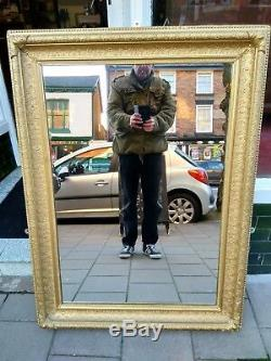 Large Antique Gilt Frame Wall Hanging Mirror 120 x 90 cms