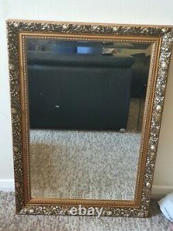 Large Antique Gold shabby chic ornate Decorative over mantle Gilt Wall Mirror