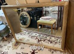Large Antique Wall Mounted Vintage Beveled Edged Gold Gilt Framed Mirror