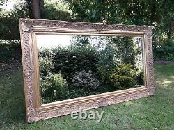 Large French Antique Wall Mirror Ornate gold framed, 145 x 86 cm (57 x 34in)