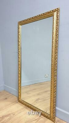 Large Gilt Style Gold Framed Mantle Wall Mirror 3'3 x 1'8