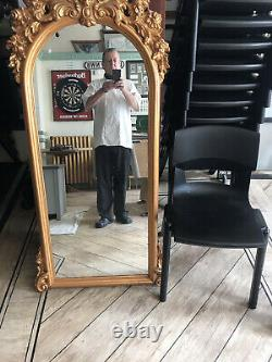 Large Gold Ornate Antique Style Wall Mounted Mirror Full length