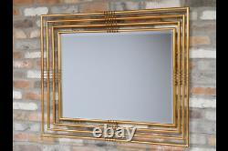 Large Gold Rectangle Mirror Ornate Wall Mirror Metal Frame Gold Mirror 6424