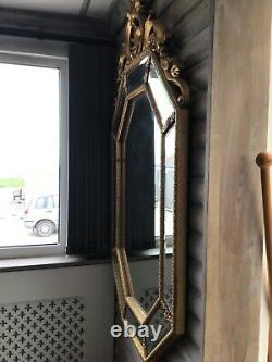 Large Gold Shabby Chic Vintage Antique Wall Hanging Mirror 140 cm x 88 cm