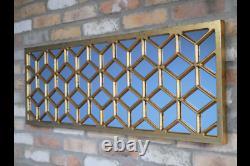 Large Golden Wall Mirror Rectangular Wall Mirror 7559
