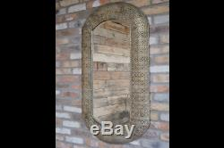 Large Luxury Gold Metal Wall Mirror Accent Moroccan Design Modern Contemporary