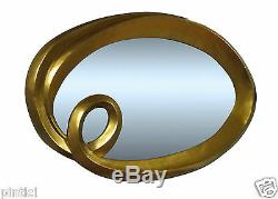 Large Mirror Gold 125x95cm Wall Mirror Gold Baroque Frame Hairdressing Mirror