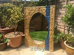 Large Ornate Gold Wall Mirror 71x 96cm With Ornate Detail on Frame