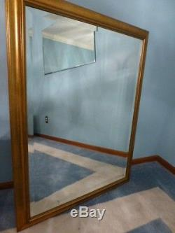 Large Solid Wood 35x45 Rectangle Beveled Framed Wall Mirror $565
