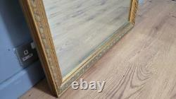 Large Vintage Gold Framed Mantle Gilt Style Wall Mirror Country House Style