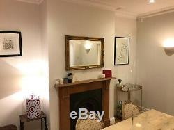 Large Vintage Gold Gilt Framed Wall Mirror 89.5cm x 64cm