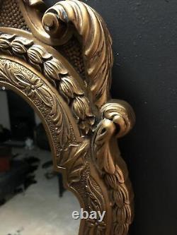 Large Vintage Rare E Gomme Wall Mirror Gilt Feather Rococo Vgc G Plan 97cm