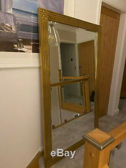 Large Wall Hanging Framed Beveled Edge Mirror 64 Length 44 Width 1 Thick