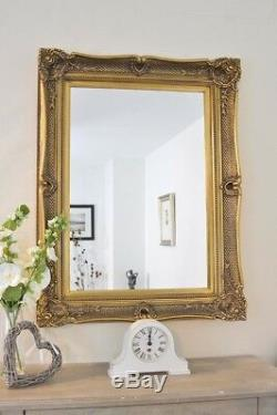 Large Wall Mirror 4Ft X 3Ft 119 X 88cm Frame Gilt Gold Shabby Chic Ornate
