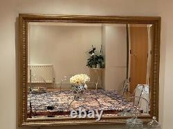 Large Wall Mirror Gold Framed Antique Vintage Length 112cm X 86cm