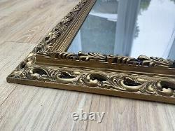 Large Wall Mirror Golden Bevelled Rococo Baroque Style