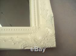 Large Wall Or Overmantle Mirror White Silver Black Cream Gold All Sizes