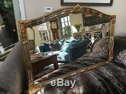 Large Wall mirror, antiqued gold frame, antique edge mirrors with bevelled edge