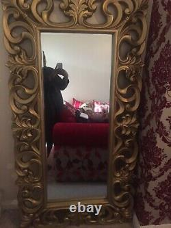 Large gold Framed Wall Or Free Standing Mirror