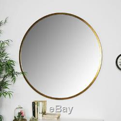 Large gold wall mirror metal frame living room hallway modern home decor display