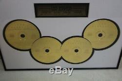 Led Zeppelin 24kt Gold Plated Professionlly Framed Wall CD Set Winterland Decor