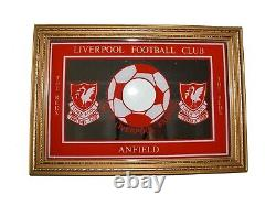 Liverpool Vintage Football Club Anfield Wall Plaque Sign Mirror Frame Red Gold