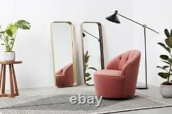MADE Alana Rectangle Full Length Wall Mirror Brushed Brass Gold Antique