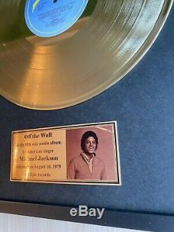 Michael Jackson Off the wall 1979 GOLD VINYL EPIC UK LABEL IN FRAME