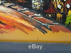 Mid Century Modern Golden Gate Bridge San Francisco California Painting Wall Art