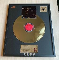 Miles Davis Kind Of Blue Custom 24k Gold Vinyl Record In Wall Hanging Frame