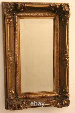 Mirror Antique Classic Frame Wood Gold Outdoor 35x55 Painting Gold Antique