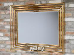 Mirror Metal Gilded Landscape Gold Wall Mount Hanging Home Decor Living Room