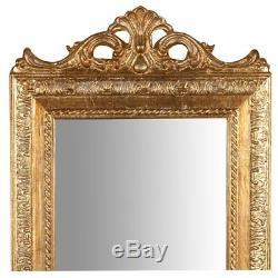 Mirror mirror frame baroque gold leaf resin wall 35 x 90 cm