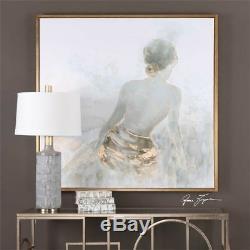 NEW 50 x 50 Female Figure Wall Art Nude Spa Z Gallerie Gold Framed Feminine