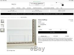 NEW The White Company Madison Wall Mirror Soft Arched Frame RRP £225