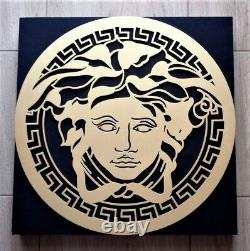 NEW VERSACE GOLD fabrics solid frame wall acoustic panel decoration studio home