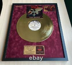 NWA Straight Outta Compton 1988 Custom 24k Gold Vinyl Record in Wall Frame