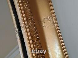 OVAL Gold Gilt French Louis Vintage Antique Ornate OVERMANTEL Wall Frame Mirror
