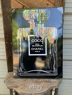 Oliver Gal Rainbow and Gold PARFUM Coco Chanel Paris Framed Wall Art Canvas