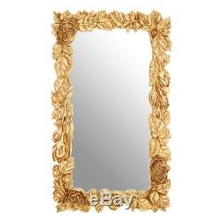 Opera Gold Floral Frame Wall Mirror