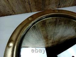 Original 15 Art Deco Porthole/Round-Vintage Convex Wall Mirror Wood & Chain Bag