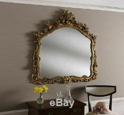 Ornate Overmantel Fireplace Living Room Wall Mirror
