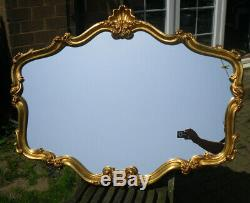 Ornate Vintage French Style Gold Gilt Framed Very Large Wall Mirror 42