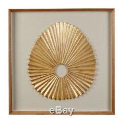 Oval Fan Carving Framed Wall Art