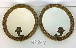 Pair of Early 20th Century Gold Framed Mirrored Wall Sconces