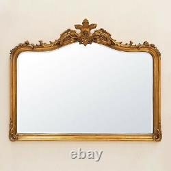 Patrica Gold Overmantle Mirror Decorative Wall Horizontal LA Fast Delivery